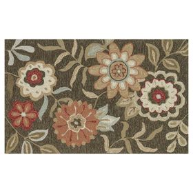 Picture of Layla Brown Floral Accent Rug 27 X 45-in