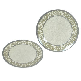 Picture of 8  SLD PLATE GLAM DMSK GRAY