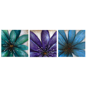 Picture of 12 x 12 3pk Big Floral Art