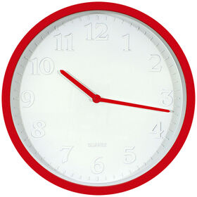 Picture of White Embossed Red Clock, 12-in.