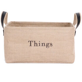 Picture of Low Rectangular Burlap Basket with Ear Handles - Large