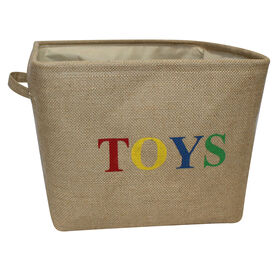 Picture of TOYS BURLAP TALL BSKT W/HNDL