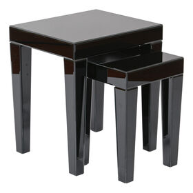 Picture of Reflections Black Glass Table, Small