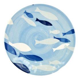 Picture of Indigo Melamine Salad Plate - Fish