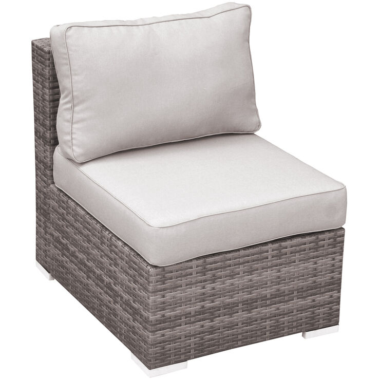 Weston Outdoor Wicker Armless Chair Gray At Home