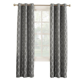Picture of Iron Banks Window Curtain Panel 84-in