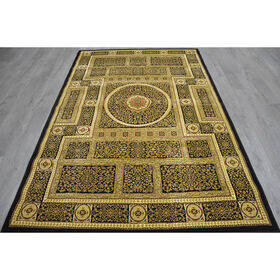 Picture of A86 Black Deluxe Square Rug