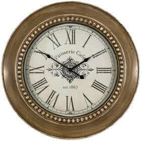 Picture of 24-in Large Beaded Café Clock