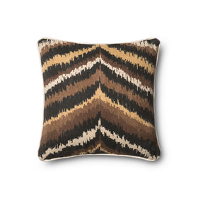 Picture of Black and Brown Tribal Momo Pillow 18-in