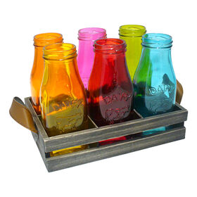 Picture of Country 7 Piece Color Milk Bottles
