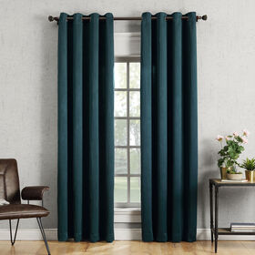 Picture of Teal Hayworth Window Curtain Panel 84-in