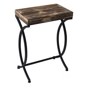 Picture of Nested Rustic Wood and Metal Table 21 in.