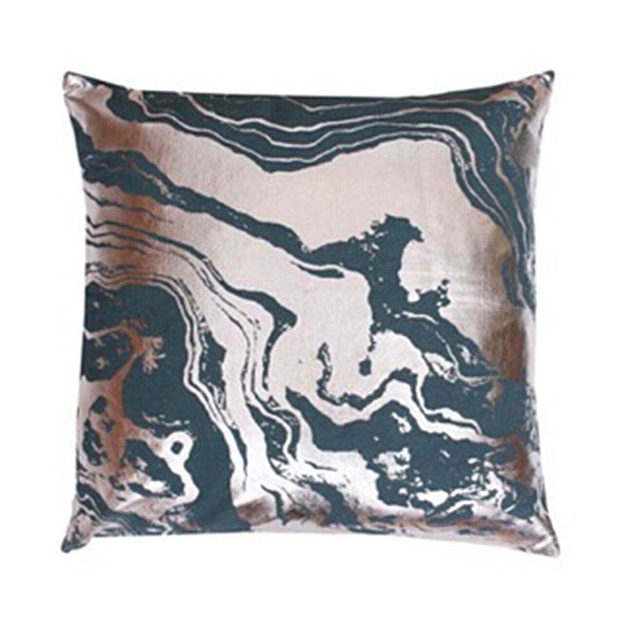 Brown and teal throw pillows - Justine Marble Pillow Teal 18 In