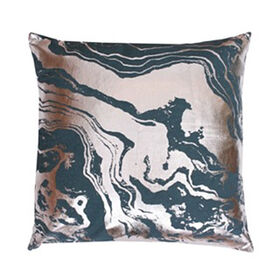 Justine Marble Pillow- Teal 18-in