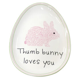 Picture of Bunny Loves You Egg Plate- 9 in.