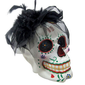 Picture of 10 Inch Sugar Skull With Lady hat