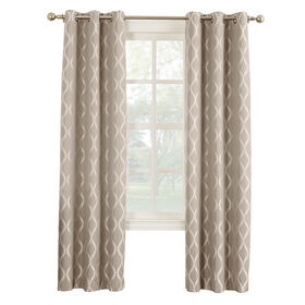 Picture of Mushroom Banks Pattern Window Curtain Panel 84-in
