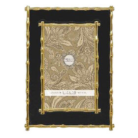 bamboo frame black and gold 4 x 6 in