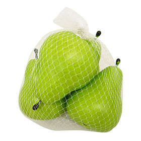 Picture of 4 Faux Green Pears in a Bag