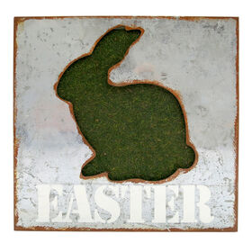 Picture of MOSS BUNNY EASTER BLOCK DECOR