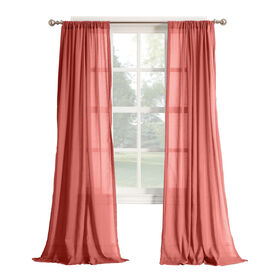 Picture of Coral Hendricks Gauze Sheer Window Curtain Panel 84-in