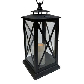 Picture of Metal Black Solar Lantern- 18.5-in