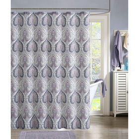 Picture of Beryl Mauve/Gray Shower Curtain
