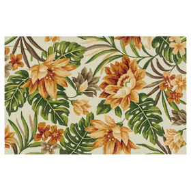 Picture of E139 Beige and Orange Tropical Rug