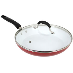 Picture of Red Covered Fry Pan- 12in