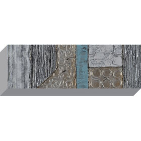 Picture of Silver Abstract Canvas Art, 12x36-in.