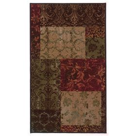 Picture of Berber Damask Block Accent Rug 20 X 32-in