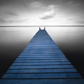 Picture of Blue Pier Canvas Wall Art - 24 x 24-in