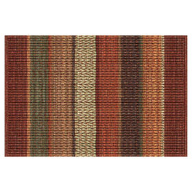 Picture of Orange 3D Impression Chindi Doormat 18 X 30-in