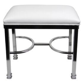 Picture of Silky Vanity Bench, White and Chrome