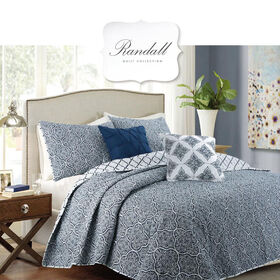 Picture of BARCLEY 5PC QUILT SET NAVY K