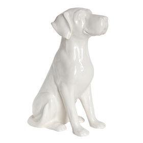 Picture of White Ceramic Dog - 12.8 in.