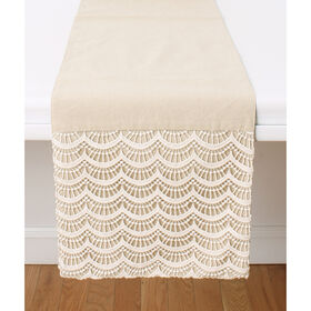 Picture of Branwen Lace Table Runner, Natural