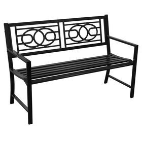 Picture of Black Geometric Steel Bench
