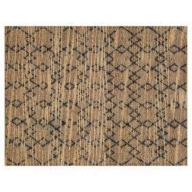 Picture of B317 Navy Jute Knot Moroccan Rug