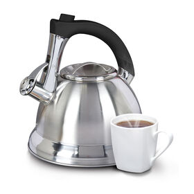 Picture of 2.4 Quart Stainless Steel Tea Kettle with Black Handle