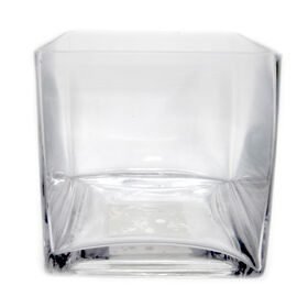Picture of Clear Glass Cube Vase 6x6-in