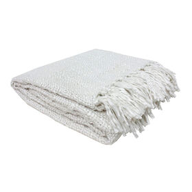 Picture of Ivory Luxe Weave Throw Blanket- 50 x 60-in