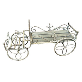 Picture of Cream Metal Truck Plant Stand - 11 in.