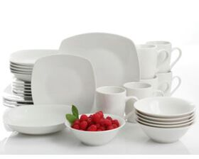 Picture of Dinnerware Square Set White- 30-Piece