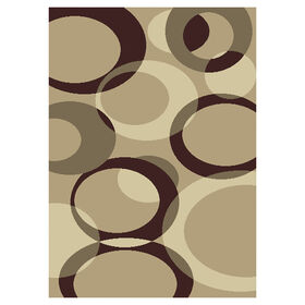 Picture of B449 ROMANCE CIRCLE BEIGE 5X7