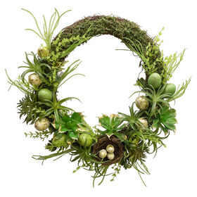 Picture of Easter Succulent Wreath- 22 in.