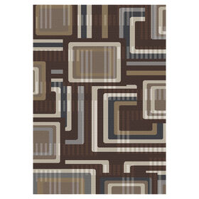 Picture of Gloucester Grid Mineral Rug 5 X 7 ft