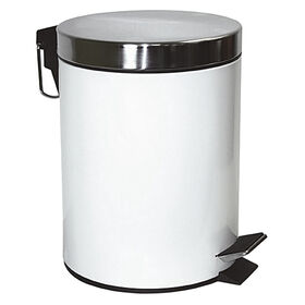 Picture of 5 L Step-On Metal Trash Bin - White
