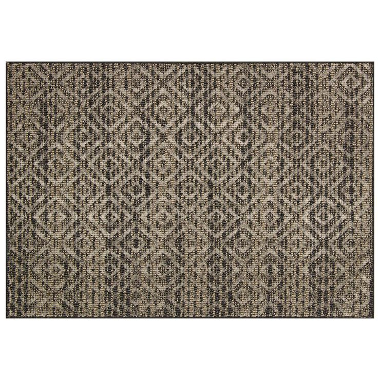 E158 Brown and Beige Textural Rug At Home