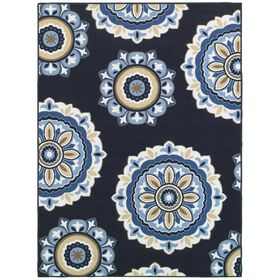 Picture of E172 MEDALLION NAVY 63X84